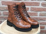 AMY CROC BOOTS BROWN_