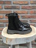 SANDY CROC LACK BOOTS BLACK_