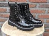 JEN CROC BOOTS BLACK_