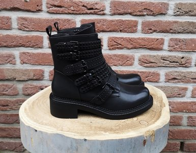 RUBY BELTED BOOTS BLACK
