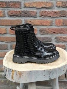 SANDY CROC LACK BOOTS BLACK