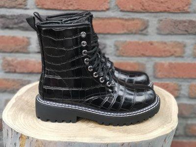 JEN CROC BOOTS BLACK