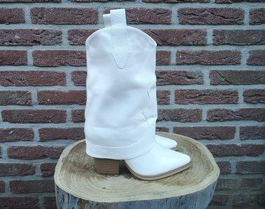DEMI BOOTS WHITE
