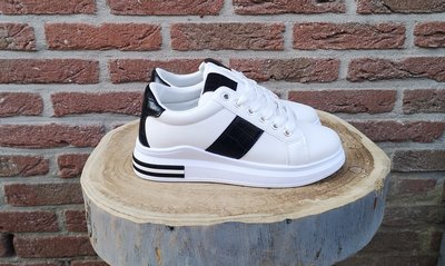 LEXI SNEAKER WHITE/BLACK